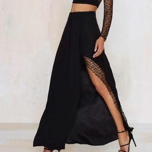 Nasty Gal Black Foxiedox Let Me Lace You SKIRT NEW
